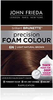 John Frieda Precision Foam Colour, Light Natural Brown 6N (Packaging may vary)