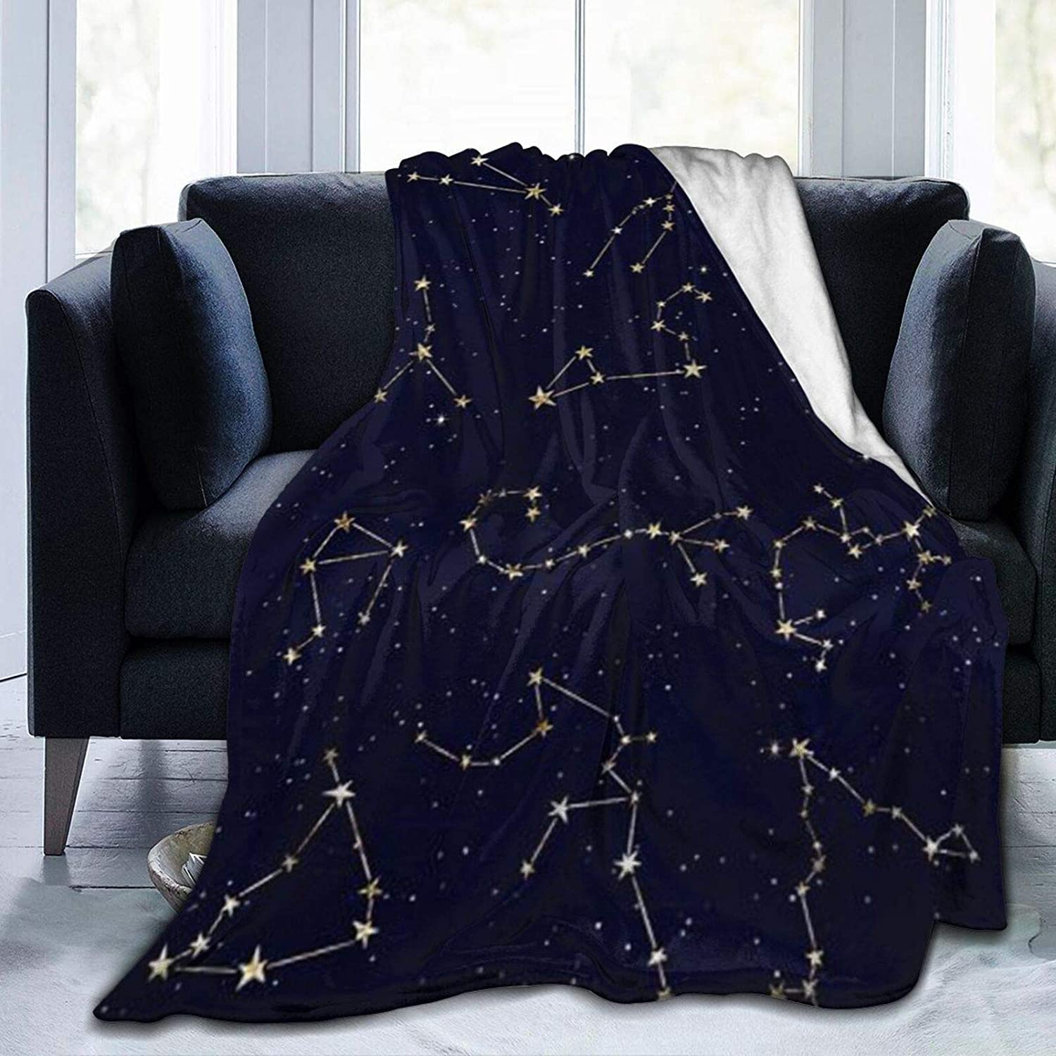 Throw Blanket Fuzzy Sky Star Plush Bl Microfiber Map Limited Over item handling time cheap sale Bed
