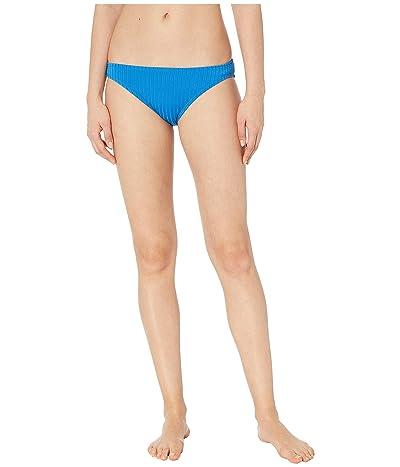 MICHAEL Michael Kors Solid Rib Classic Bikini Bottoms (Vintage Blue) Women