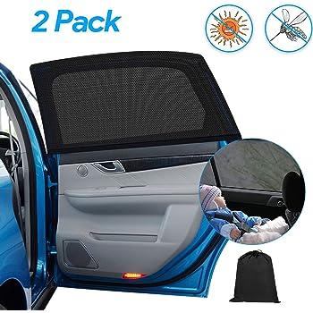 Swiftswan Auto Auto Vorne Hinten Seitenfenster Sonnenschutz Sonnenblende Sun Reflective Shade Abdeckung Farbe: Schwarz