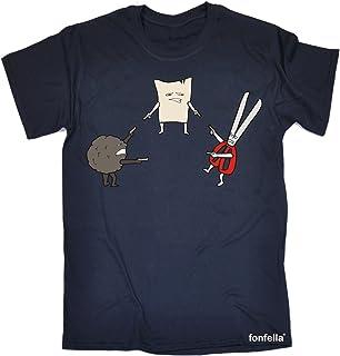 123t Men's Mexican Standoff Rock Paper Scissors Funny T-Shirt