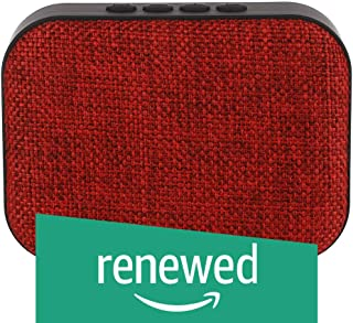 (Renewed) Live Tech Portable Yoga Bluetooth Wireless Speaker with USB/Micro SD/FM/AUX/Mic - Black (Red)