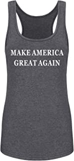 GROWYI Funny Workout Tank Tops Racerback for Women Make America Great Again Political Fitness Gym Sleeveless Shirt Grey