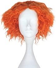 Miss U Hair Adult Short Hair Men Curly Wig Orange Lolita Cosplay Costume Wig Halloween