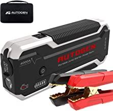 AUTOGEN Car Jump Starter PRO 4000A Peak (10.0L+ Gas & Diesel), 12V Portable Lithium Jumper Pack for Cars, SUVs, Trucks. Huge Power Bank with Quick Charge 3.0