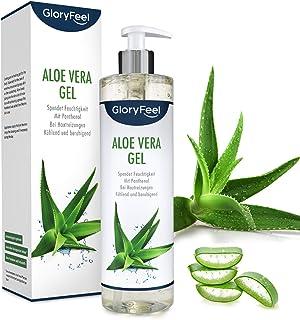 Aloe Vera Gel 500ml - 100% organisk kontrollerad odling - Naturlig hudvård och kylande fuktkräm efter sol - Naturkosmetik ...