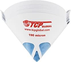 "TCP Global 50 Pack of Paint Strainers with Fine 190 Micron Filter Tips - Premium""Pure Blue"" Ultra-Flow Blue Nylon Mesh - Cone Paint Filter Screen"