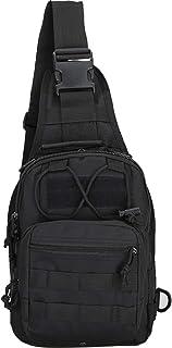 Denlix کیسه های تاکتیکی کیسه های پلی کربنات کوله پشتی کوله پشتی کیسه های ورزشی نظامی کوهنوردی برای پیاده روی، کمپینگ، پیاده روی، راهرو Sling Daypack برای مردان زن