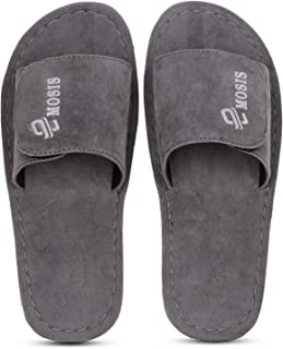 Emosis Men's Slipper Cum Sandal - Latest & Stylish Synthetic Leather - for Outdoor Formal Office Casual Ethnic Daily Use - Available in Tan Brown Black Beige Blue Color - 0321M