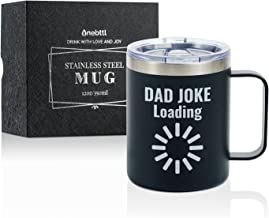 Dad Gifts Coffee Mug Stainless Steel, Dad Jokes Father Presents from Daughter Son for Father's Day Birthday Christmas, Tra...