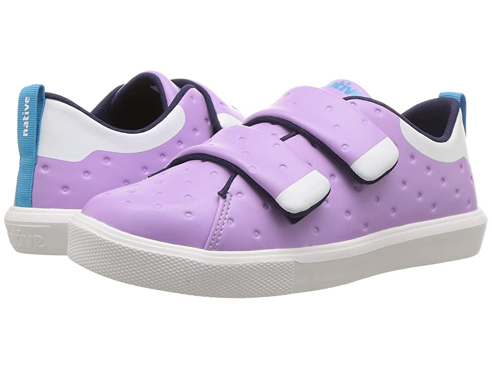 Native Kids Shoes Monaco HL CT (Little Kid) (Lavender Purple CT/Shell White) Girls Shoes