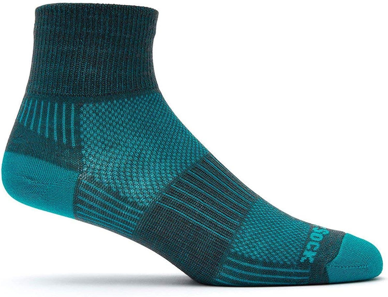 Max 80% OFF Wrightsock Unisex Coolmesh II Quarter LG Sock Turquoise Men Finally popular brand Ash