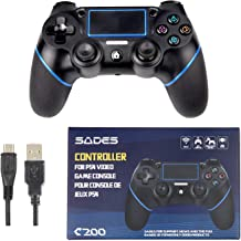 DualShock 4 wireless controller for PlayStation 4, dual vibrating feel, super stick, black