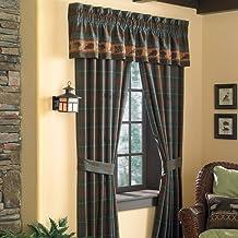 Croscill Caribou Pole Top Window Treatment Drapery, 82 by 84-Inch, Multicolor