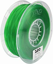 ZIRO 3D Printer Filament PLA 1.75 1KG(2.2lbs), Dimensional Accuracy +/- 0.05mm, Translucent Green