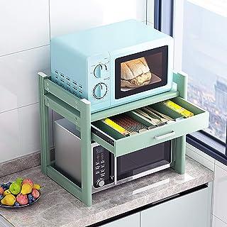 Support Micro-Ondes 50cm - Etagères de Rangement pour étagère pour Micro-Ondes - Etagère de Rangement pour Cuisine en méta...