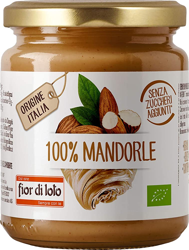 Fior di loto,fior di loto crema 100% di mandorle tostate - 200 g