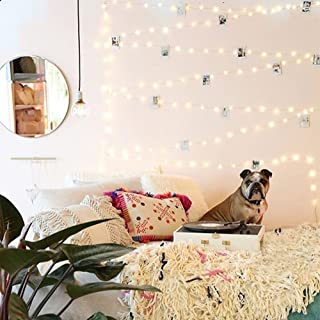 12APM 66 ft 200LEDs Waterproof Starry Fairy String Lights, with Remote Dimmable Timer, Silver/Copper Wire for Bedroom Indo...