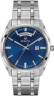 Bulova - Reloj Analógico para Hombre de Cuarzo con Correa en Acero Inoxidable 96C125