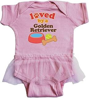Golden Retriever Loved by a (Dog Breed) Infant Tutu Bodysuit