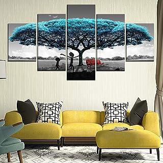 CXDM Lienzo Pared Arte Modular Fotos Home Decor 5 Piezas Rick y Morty Pinturas Sala HD Impreso animaci/ón Posters,Framed,100x50cm