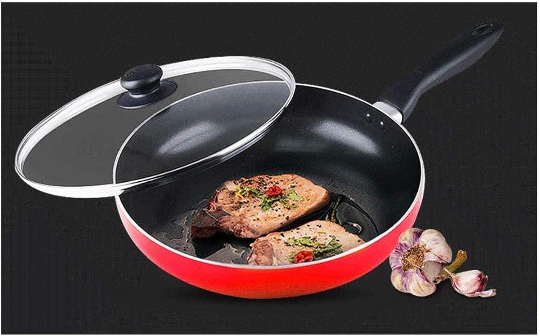XUHRA Poêlon, Non-Bâton, Pas De Fumée Grasse Peut Être Frit Steak Crêpes, Utilisé pour Les Réunions De Famille,24Cm 28cm
