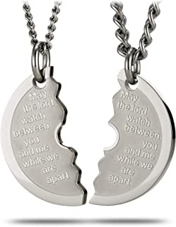Stainless Steel Small Split Weight Plate Necklace-Genesis 31:49