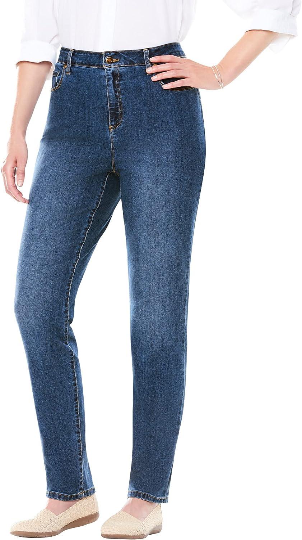 Woman Within Women's Plus Size Petite Perfect Straight Leg Jean