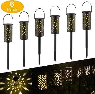 Outdoor Garden Light Extaum Solar Powered Ground Light Outdoor Garden Lights LED Pathway Lantern Stake Lamp Decoration Lig...
