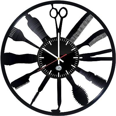Fun Door Handmade Hairdresser Salon Home Decor Handmade Vinyl Record Wall Clock - Best Gift