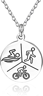 Anlive Swim Bike Run Triathlon Necklace Sports Necklace