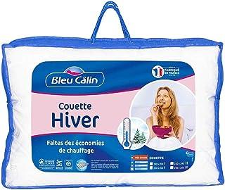 Bleu Câlin Couette Hiver 2 Personnes, Très Chaude, Blanc, 220x240cm, KTC