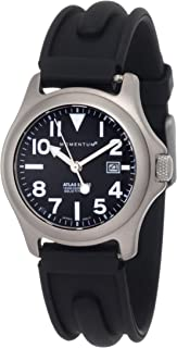 Momentum Women's 1M-SP01B1 Atlas Black Dial Black SLK Rubber Watch