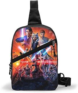 Hdadwy St-ar-war Mandalorian JediKnight Sling Bag para hombres, mujeres, paquetes de viaje, mochila en el pecho, bandolera...