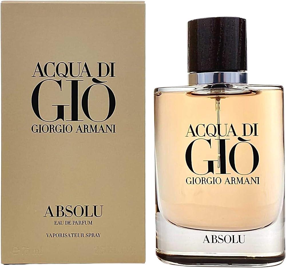 Armani acqua di gio` absolu ,eau de parfum,profumo per uomo,75 ml , spray 58119
