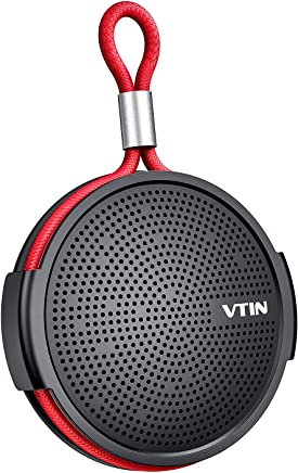 Vtin SoundHot Q1 Waterproof Bluetooth Speaker, 8W Portable Bluetooth Speaker with Loud HD Sound,10H Playtime Shower Speaker with Suction Cup, Built in Mic, Support TF Card, for Shower, Pool, Beach