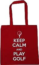 HippoWarehouse Keep Calm and Play Golf Tote Shopping Gym Beach Bag 42cm x38cm, 10 litres