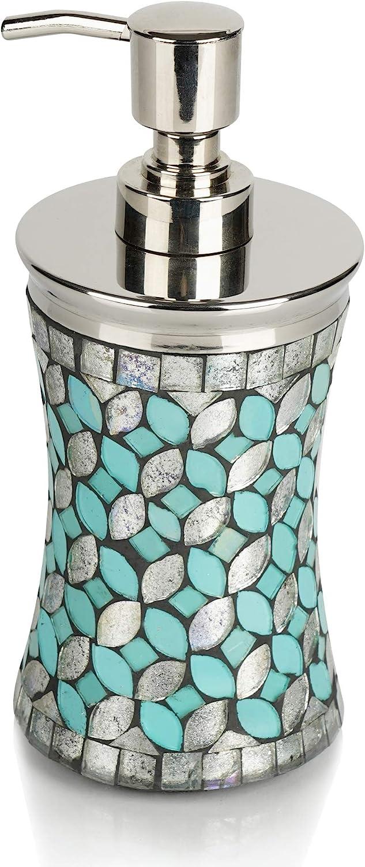nu steel Sea Foam Collection Lotion Pump, Dispenser with Refilla