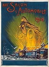 XIIIe Salon de l'Automobile 1912 Vintage Poster (artist: Dergeo) France 58491 (24x36 SIGNED Print Master Art Print - Wall Decor Poster)