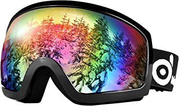 Odoland Snow Ski Goggles S2 Double Lens Anti-Fog Windproof UV400 Eyewear for Adult and Youth-Skiing, Snowboarding, Motorcycle Cycling and Snowmobile Winter Outdoor Sports Protective Glasses