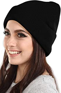Digital Shopee Winter and Snow Woolen Skull Cap For Women/Girls, Black