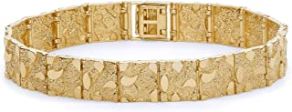The World Jewelry Center 14k Yellow Gold Nugget Bracelet - 8""