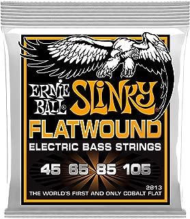 Ernie Ball P02813 Hybrid Slinky Flatwound Electric Bass Strings, 45-105 Gauge, Medium