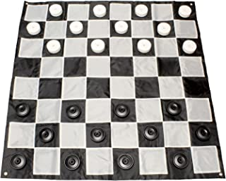 Get Out! Giant Checkers Set Outdoor Games for Family Lawn Games – Large Checkers Pieces & 5x5ft Giant Checker Board