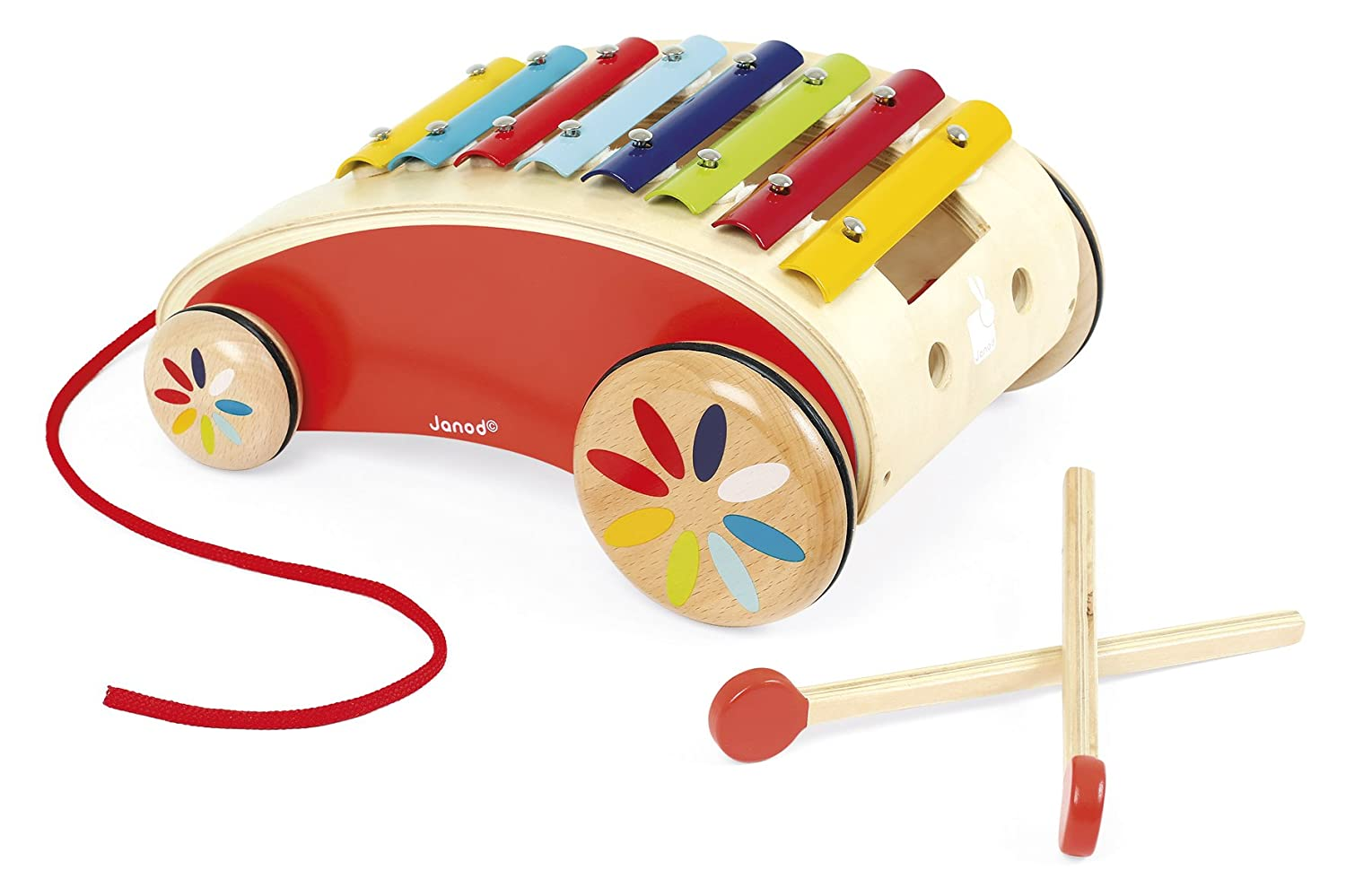 Janod Tattoo Red Xylo Roller Toy [並行輸入品]