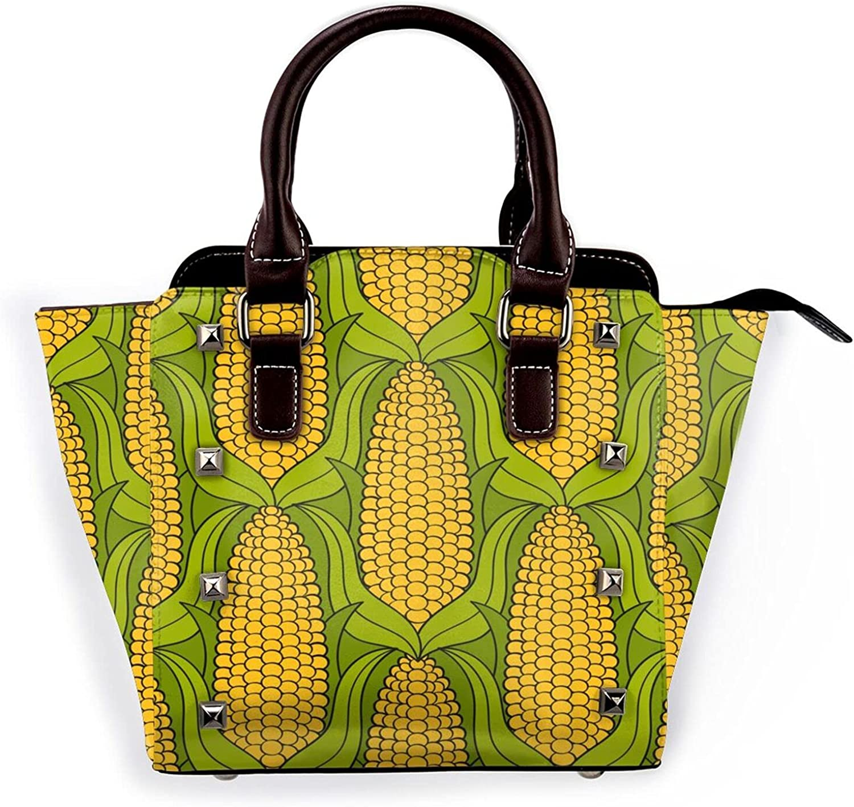 Jutdopt Hand Draw Corn Leather security Shoulder Outlet SALE Crossbody Bag Rivet