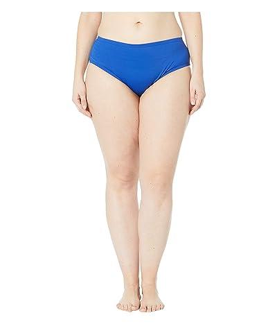 24th & Ocean Plus Size Solids Mid Waist Pant Bottoms (Cobalt) Women