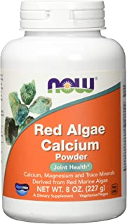 Now Supplements, Red Algae Calcium Powder with Calcium, Magnesium and Trace Minerals Derived from Red Marine Algae, 8-Ounce