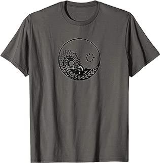 Yin Yang polynesian Maori surfer backpacker tattoo t-shirt T-Shirt