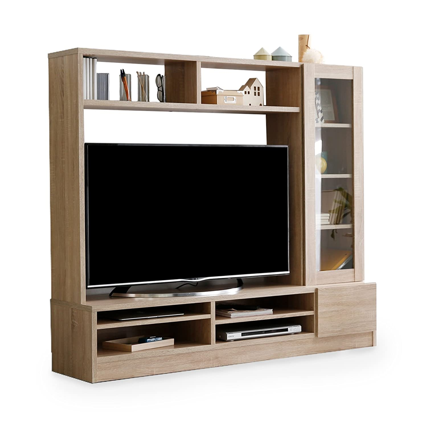 お香失礼従順LOWYA TVボード 壁面 テレビ台 テレビボード 壁面ユニット 幅160cm オーク